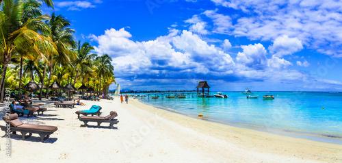 Plexiglas Freesurf Holidays in tropical paradise - beautiful beaches of Mauritius island