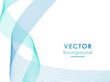 Abstract elegant blue wave background. Can be used template, web, presentation. Vector illustration.