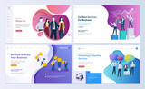 Set of web page design templates for business, finance and marketing. Modern vector illustration concepts for website and mobile website development. Easy to edit and customize. - 210461458