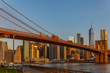 Manhattan skyline, Brooklyn bridge sunset beautiful landscape