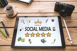 Social Media Concept On Digital Tablet Screen - 210480220