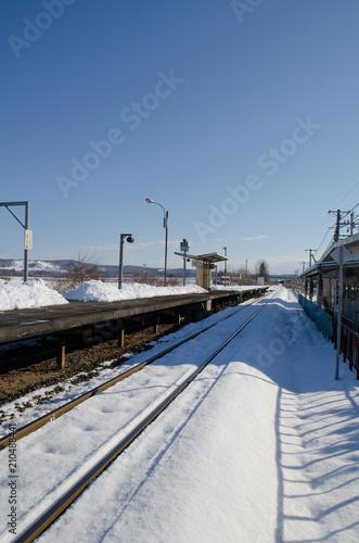 Aluminium Spoorlijn 冬の鉄道