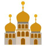 arabic castle building facade vector illustration design - 210499285