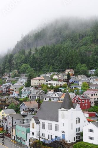 Fotobehang Wit Colorful houses in Ketchikan, Alaska