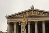 Pallas-Athena-Brunnen in front of parliament, Vienna - 210511492