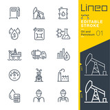 Lineo Editable Stroke - Oil and Petroleum line icons - 210513084