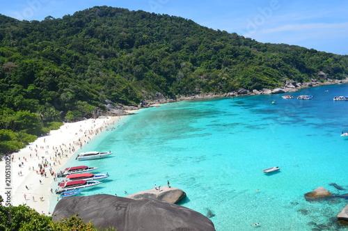 Fotobehang Turkoois Tropical beach, Phuket, The south of Thailand