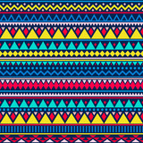Colorful ethnic seamless pattern. Cute tribal background. Geometrical backdrop. Vector illustration. - 210519076