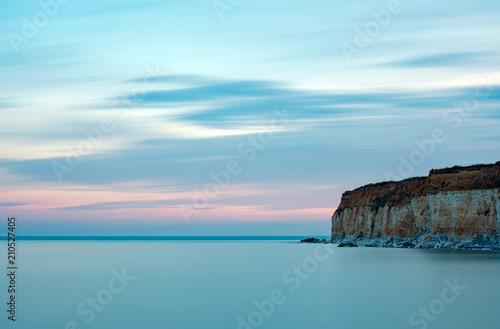 Fotobehang Lichtblauw Long exposure sunset