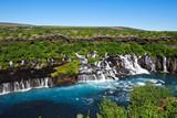 waterfall Hraunsfossar in Iceland