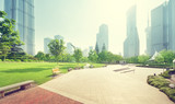 park in lujiazui financial center, Shanghai, China - 210530411