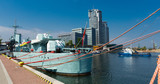 Image of port area at Baltic Sea in old city Gdynia in Poland