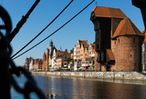 Motlawa river embankment in historical part of Gdansk at sunny day - 210541871