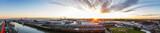 Panorama vom Hafen Cuxhaven beim Sonnenaufgang 1