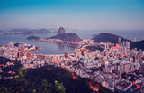 Sugarloaf Mountain at sunset with skyline of Rio de Janeiro, Brazil - 210546808