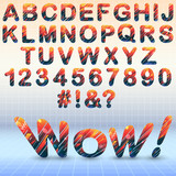 Modern font with abstract elements - 210551413