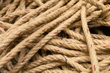 Brown rope background as vintage grunge style with copy space