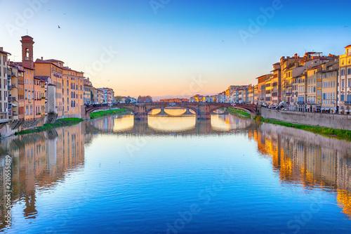 Fotobehang Florence St. Trinity Bridge in Florence, Italy