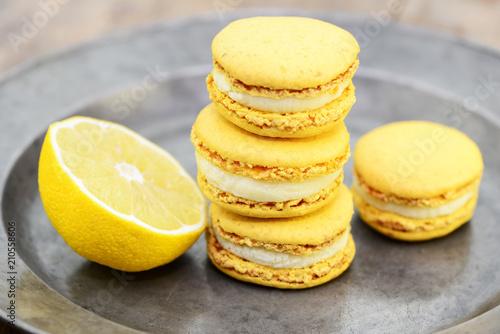 Fotobehang Macarons Macarons Zitrone