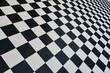 Sol  en carreaux noirs et blancs - 210565462