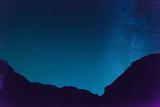 Dark blue sky with beautiful stars