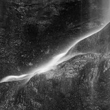 Beautiful peaceful black and white long exposure waterfall detail intimate landscape image - 210580695