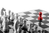 Chess business concept, leader teamwork & success - 210581422