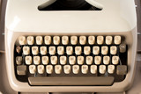 Close up of retro style typewriter in studio - 210581699