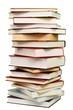Leinwanddruck Bild - Pile of Books