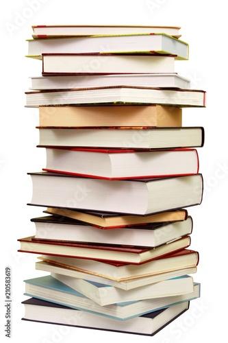 Leinwanddruck Bild Pile of Books