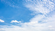 Leinwanddruck Bild - Wonderful blue sky with clouds for background