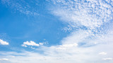 Wonderful blue sky with clouds for background - 210585201