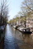 View of Amsterdam canals.