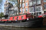 Boat in Amsterdam.