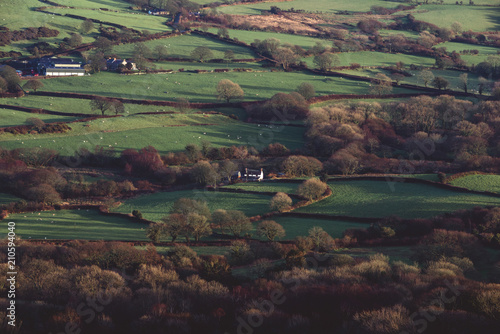Plexiglas Khaki Welsh Countryside