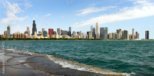 Fotobehang Chicago Panorama Chicago
