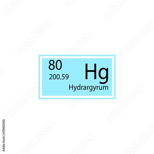 Periodic table element hydrargyrum icon element of chemical sign periodic table element hydrargyrum icon element of chemical sign icon premium quality graphic design urtaz Image collections