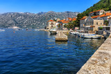 Ancient city Perast in the Harbour at Boka Kotor bay - 210605073