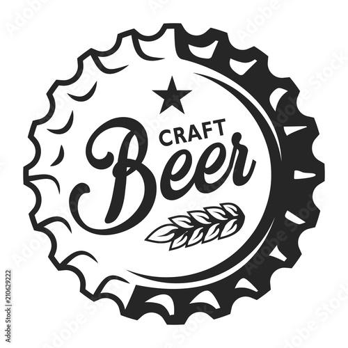 Fototapeta Vintage beer cap logo