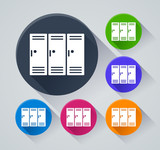 school locker icons with shadow - 210630065