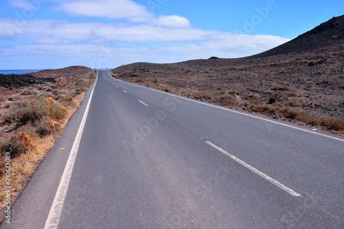Plexiglas Lavendel Long Lonely Road