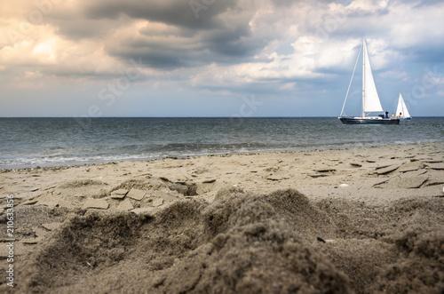 Fotobehang Noordzee Weltenbummler mit Segelschiff