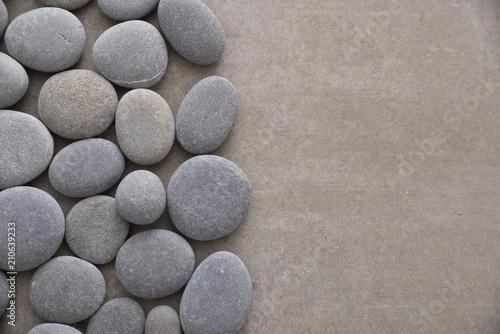 Aluminium Spa stones on gray background