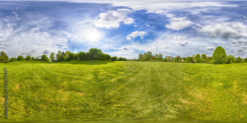 A Spherical 360 degrees seamless panorama view in equirectangular