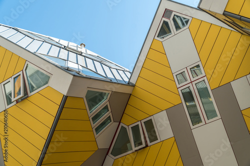Canvas Rotterdam Details of cube houses in Rotterdam