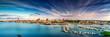 Leinwanddruck Bild - Rostock Stadthafen Panorama