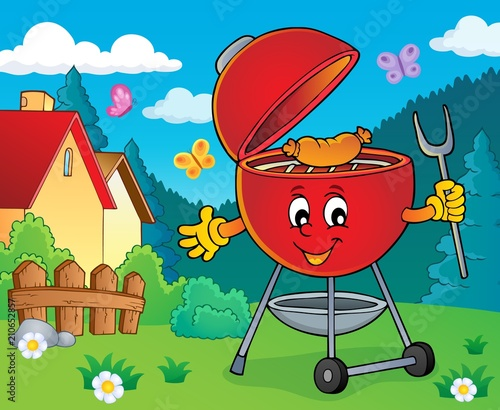 Fotobehang Voor kinderen Barbeque topic image 4