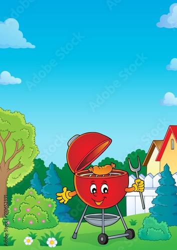 Fotobehang Voor kinderen Barbeque topic image 6