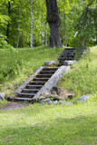Concrete stairs in the park outdoors. - 210653267