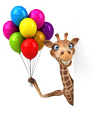 Fun giraffe - 3D Illustration - 210654029